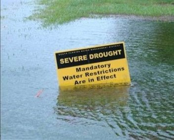 severe drought in flood